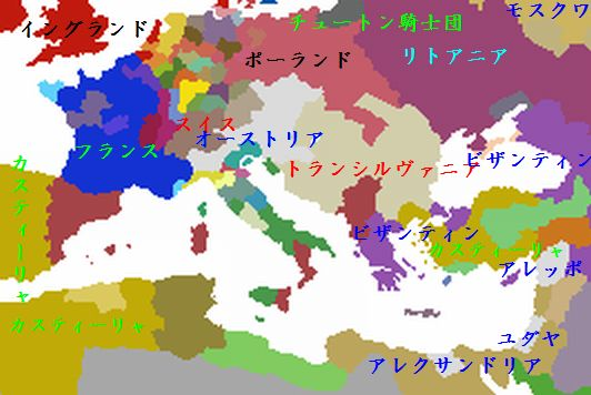 1496年の勢力図