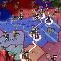 ヴェルマンドワへ集結するプロヴァンス軍