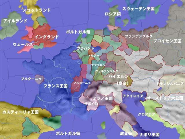 1551年の欧州